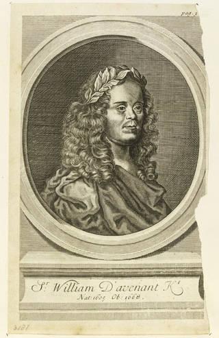 Portrait of Sir William Davenant, engraving, William Faithorne,1673, England. Museum no. S.1544-2012. © Victoria and Albert Museum, London