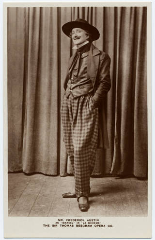 Frederick Austin as Rodolpho in Puccini's opera La Bohème, postcard, about 1918. © Victoria and Albert Museum, London