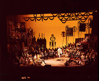 Scene from Wagner's opera The Mastersingers of Nuremberg at Royal Opera House, Covent Garden, Houston Rogers, 1957, England. © Victoria and Albert Museum, London