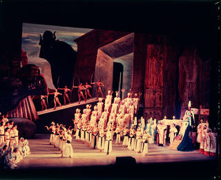 Scene from Margherita Wallmann's production of Verdi's Aida at Royal Opera House, Covent Garden, Houston Rogers, 1957, England. © Victoria and Albert Museum, London