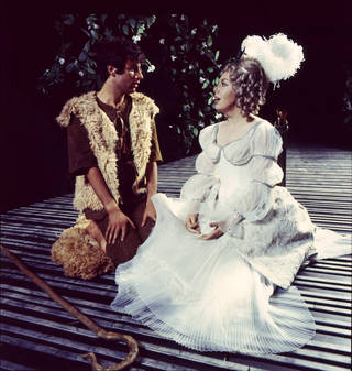 Janet Baker and James Bowman in Peter Hall's production of Francesco Cavalli's La Calisto, Glyndebourne, Anthony Crickmay, 1970. © Victoria and Albert Museum, London