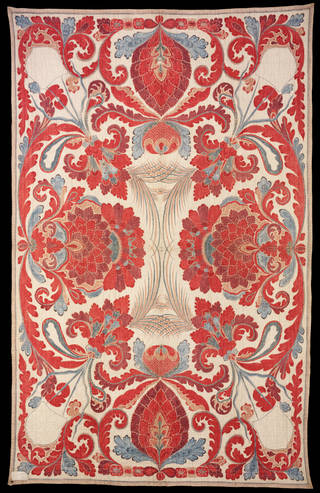 Photo of Quilt, unknown, about 1700 – 50, Coromandel Coast. Museum no. IS.17-1976. © Victoria and Albert Museum, London