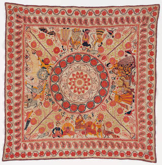 Photo of Kantha, unknown, early 20th century, Bangladesh. Museum no. S.16-2008. © Victoria and Albert Museum, London
