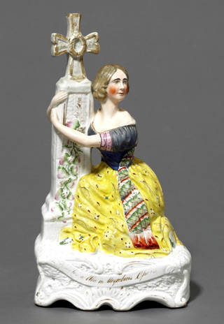 Ceramic figure of Jenny Lind as Alice in Meyerbeer's opera Robert le Diable, 1847, Staffordshire. Museum no. C.87-1928. © Victoria and Albert Museum, London