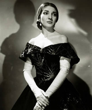 Photograph of Maria Callas in Verdi's opera La Traviata at Royal Opera House, Covent Garden, 1958, England. © Victoria and Albert Museum, London