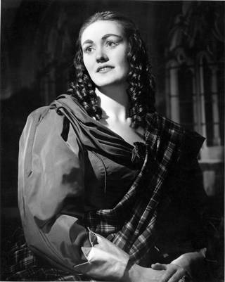 Photograph of Joan Sutherland as Lucia in Donizetti's opera Lucia di Lammermoor at the Royal Opera House, Covent Garden, 1959, England. © Victoria and Albert Museum, London