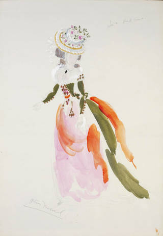 Costume design for Lisa in the party scene in Tchaikovsky's opera The Queen of Spades, Royal Opera House, Covent Garden, designed by Oliver Messel, 1950, England. Museum no. S.186-2006. © Victoria and Albert Museum, London