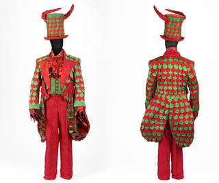Costume for Pluto in Offenbach's operetta Orpheus in the Underworld, English National Opera, designed by Gerald Scarfe, 1985, England. Museum no. S.788:1 to 4-1991. © Victoria and Albert Museum, London