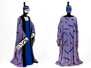 Costume for the Bonze in Stravinsky's opera The Nightingale, Royal Opera House, Covent Garden, designed by David Hockney, 1983, England. Museum no. S.26:1 to 6-2003. © Victoria and Albert Museum, London