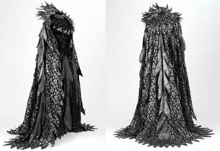 Costume for the Fairy Queen in Gilbert and Sullivan's opera Iolanthe, D'Oyly Carte Opera Company, designed by Bruno Santini, made by David Garrett, 1977, England. Museum no. S.348 to I-1985. © Victoria and Albert Museum, London