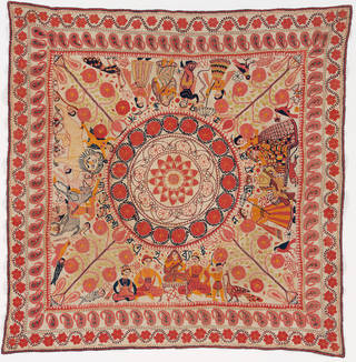 Kantha, unknown, early 20th-century, Bangladesh. Museum no. IS.16-2008. © Victoria and Albert Museum, London