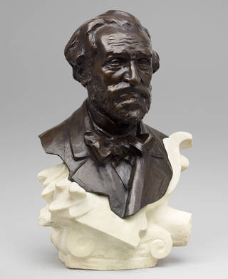 Photo of Giuseppe Verdi, sculpture, Raffaello Romanello, 1890, Europe. Museum no. S.1694-2014. © Victoria and Albert Museum, London