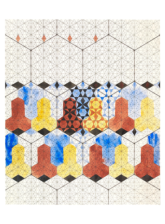 Design for mosaic pavement, unfinished pattern (custom print)