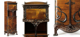 Cabinet, Louis Majorelle, about 1900, France. Museum no. 1999:1 to 4-1900. © Victoria and Albert Museum, London