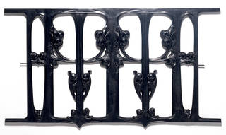 Photo of Cast iron balcony front, Hector Guimard, about 1900, France. Museum no. M.120-1984. © Victoria and Albert Museum, London
