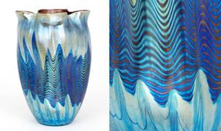 Phänomen vase, designed by Max Ritter von Spaun, manufactured by Johann Lötz Witwe Glassworks, 1900, Germany. Museum no. 1297-1900. © Victoria and Albert Museum, London