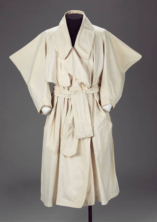 Witches raincoat and belt, Vivienne Westwood and Malcolm McLaren, 1983, England. Museum no. T.268:1, 2-1991. © Vivienne Westwood and Malcolm McLaren/Victoria and Albert Museum, London