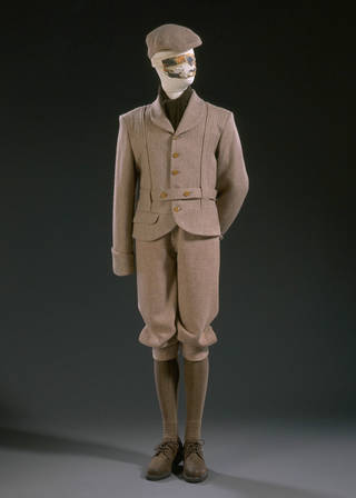 Time Machine suit, Vivienne Westwood, 1988, England. Museum no. T.261:1 to 3-1992. © Vivienne Westwood/Victoria and Albert Museum, London