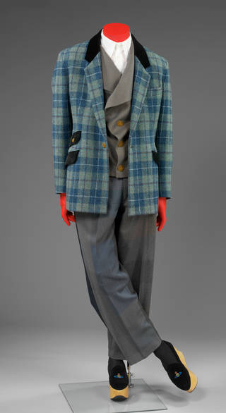 Photo of Suit, Vivienne Westwood, about 1995, England. Museum no. T.37:1 to 3-2011. © Victoria and Albert Museum, London
