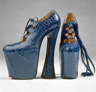 Photo of Platform shoes, Vivienne Westwood, 1993, England. Museum no. T.225:1, 2-1993. © Victoria and Albert Museum, London
