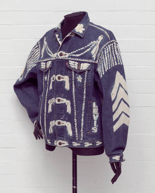Photo of Jacket, designed by Vivienne Westwood, made by Levi Strauss & Co., 1986, England. Museum no. T.200:1-2002. © Victoria and Albert Museum, London