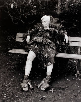 Photo of Vivienne Westwood, photograph by Juergen Teller, 1993. Museum no. E.84-1997. © Juergen Teller/Victoria and Albert Museum, London