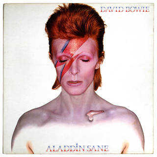 Photo of Aladdin Sane album cover, Duffy and Philo, 1970, Uk. Museum no: E.583-1985. © Victoria and Albert Museum, London