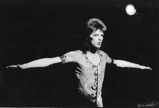 Photo of Photograph of David Bowie, Kevin Cummins, 1970s, Uk. Museum no: S.1326-2010. © Victoria and Albert Museum, London