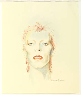 Photo of David Bowie Then: 1973, drawing, Barbara Nessim, 2013, US. Museum no. E.117-2013. © Victoria and Albert Museum, London