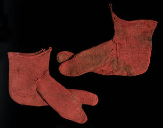 Pair of socks, 250 – 420, Egypt. Museum no. 2085&A-1900. © Victoria and Albert Museum, London