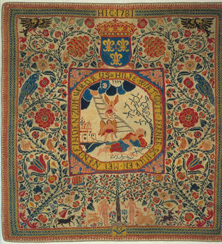 Carpet or hanging, 1781, France. Museum no. T.375-1977. © Victoria and Albert Museum, London