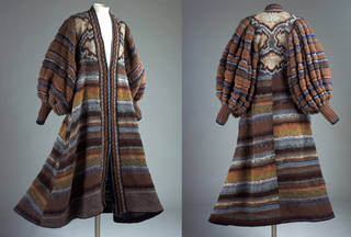 Front and rear view: Renaissance evening coat, Zoe Hunt for Kaffe Fassett, 1979, Britain. Museum no. T.354-1980. © Victoria and Albert Museum, London