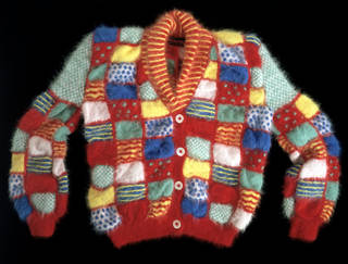 Romany cardigan, Patricia Roberts, 1982, England. Museum no. T.210-1985. © Victoria and Albert Museum, London