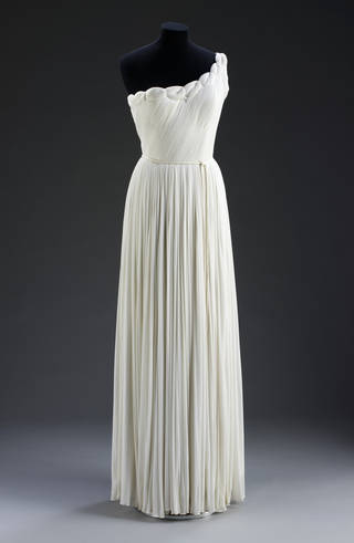 Evening dress, Madame Grès, designed 1955, made 1971, France. Museum no. T.246&A-1974. © Victoria and Albert Museum, London