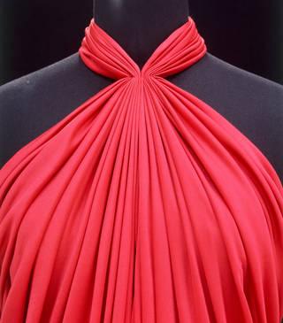 Evening dress (detail), Yuki, 1975 – 80, England. Museum no. T.263-1989. © Victoria and Albert Museum, London