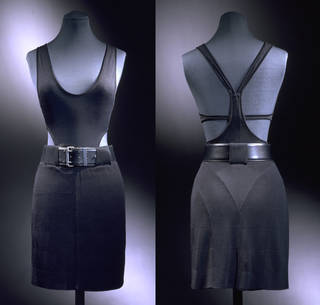 Front and rear view: top, Azzedine Alaïa, 1985, France. Museum no. T.374A-1985. © Victoria and Albert Museum, London