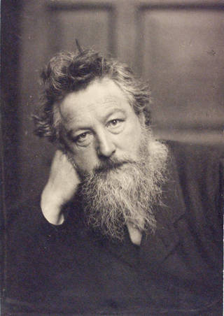 William Morris, photograph, Frederick Hollyer, 1884, England. Museum no. 7715-1938. © Victoria and Albert Museum, London