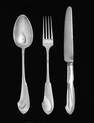 Spoon, fork and knife, Henry van de Velde, about 1902, Germany. Museum no. M.29-1993. © Victoria and Albert Museum, London