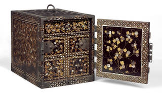 Cabinet, about 1600, Japan. Museum no. W.100-1922. ©Victoria and Albert Museum, London