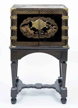 Cabinet, about 1630, Japan, stand about 1690, probably The Netherlands. Museum no. FE.38-1978. ©Victoria and Albert Museum, London