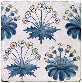 Tile, designed by William Morris, decorated by Morris, Marshall, Faulkner & Co., 1862, England. Museum no. C.58-1931. © Victoria and Albert Museum, London