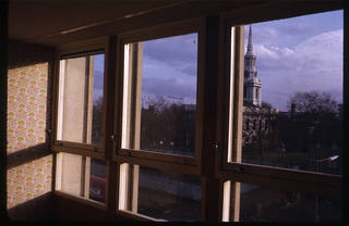 Slide of interior, Peter Smithson, about 1970. Courtesy of the Smithson Family Collection