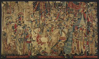 The War of Troy, tapestry, unknown, 1475 – 1490, Belgium. Museum no. 6-1887. © Victoria and Albert Museum, London