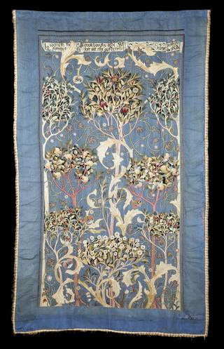 The Orchard, wall hanging, designed by May Morris, embroidered by Theodosia Middlemore, 1894, England. Museum no. CIRC.206&A-1965. © Victoria and Albert Museum, London
