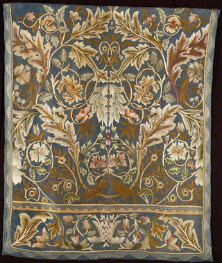 Acanthus wall hanging, designed by William Morris, made by Morris & Co., about 1880, England. Museum no. T.153-1979. © Victoria and Albert Museum, London