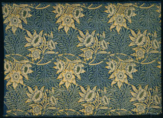 Tulip and Willow, furnishing fabric, designed by William Morris, made by Morris & Co., 1873, England. Museum no. CIRC.91-1933. © Victoria and Albert Museum, London