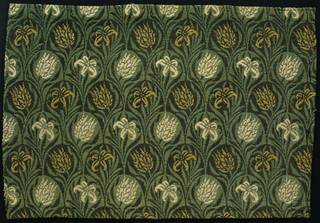 Tulip and Lily, sample, designed by William Morris, made by Heckmondwike Manufacturing Company, 1875, England. Museum no. T.101-1953. © Victoria and Albert Museum, London