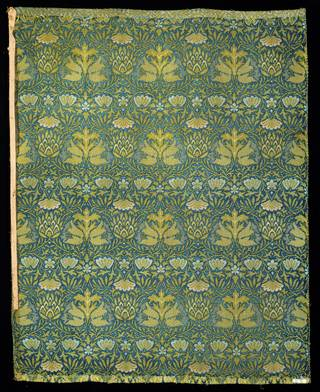 Artichoke, carpet sample, designed by William Morris, manufactured by Heckmondwike Manufacturing Company, 1875 – 1880, England. Museum no. T.188-1984. © Victoria and Albert Museum, London