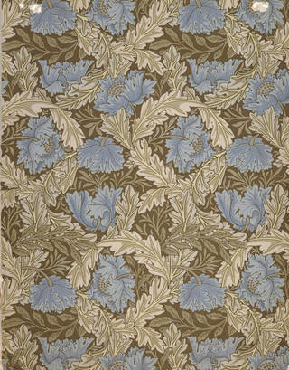 Wreath wallpaper, designed by William Morris, manufactured by Jeffrey & Co., 1876, England. Museum no. E.501-1919. © Victoria and Albert Museum, London