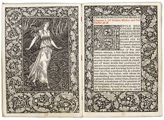 Photo of The wood beyond the world, designed by William Morris, published by Kelmscott Press, 1894, England. Museum no. 38041800870107. © Victoria and Albert Museum, London